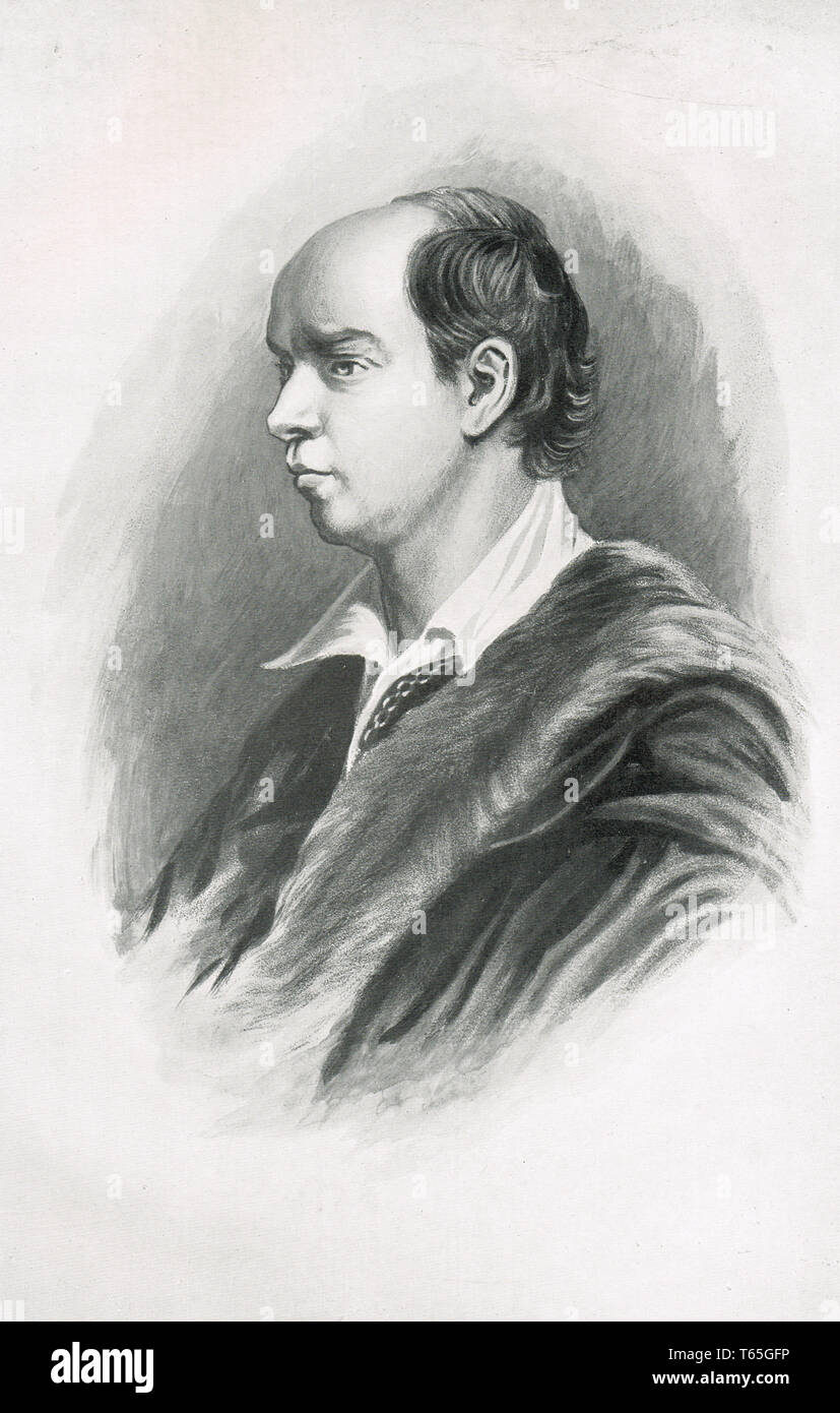 Oliver Goldsmith (10 November 1728 – 4 April 1774) Irish novelist, playwright and poet, best known for his novel The Vicar of Wakefield - Stock Image