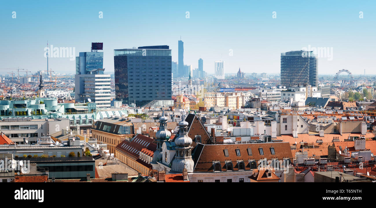 View from St. Stephen's Cathedral in Vienna, Austria - Stock Image