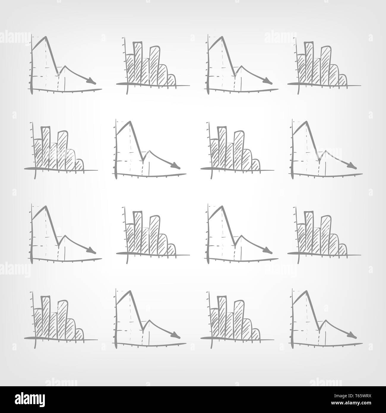 Graph Down - Stock Image