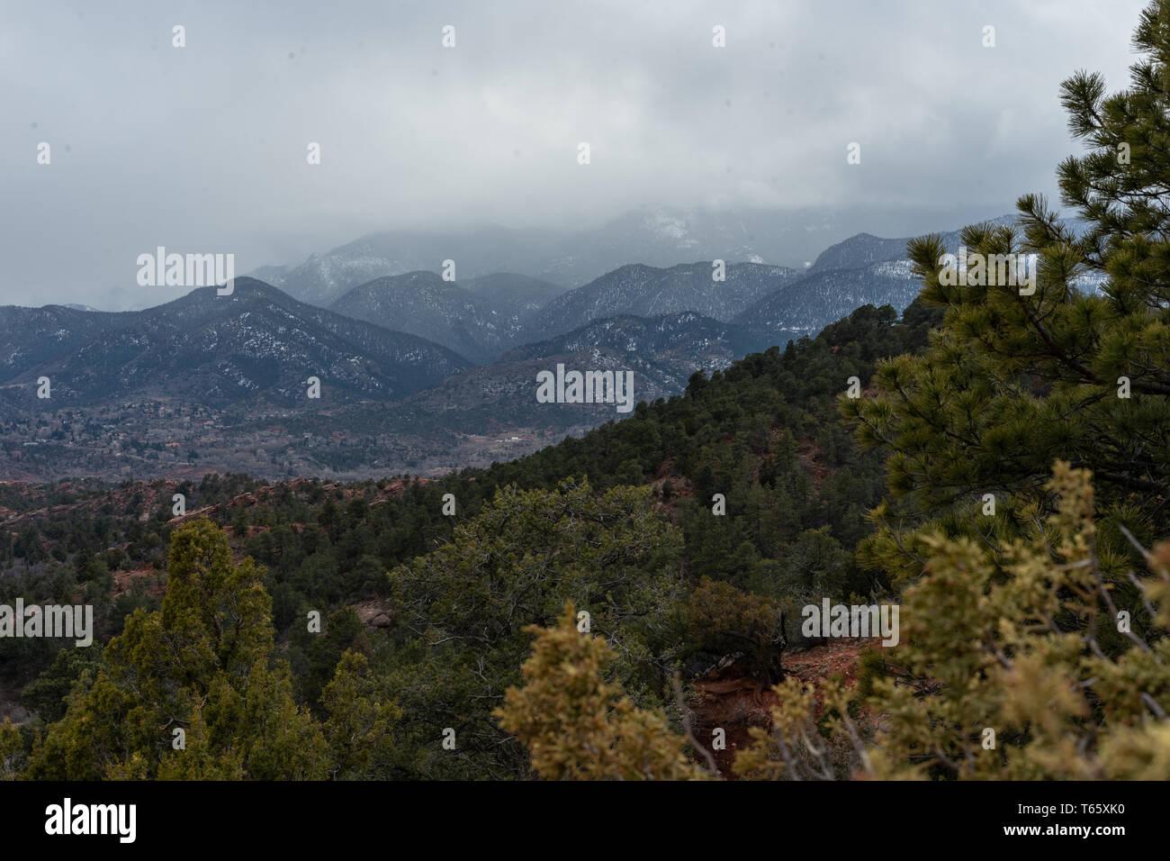 Garden of the gods park, Colorado, USA - Stock Image