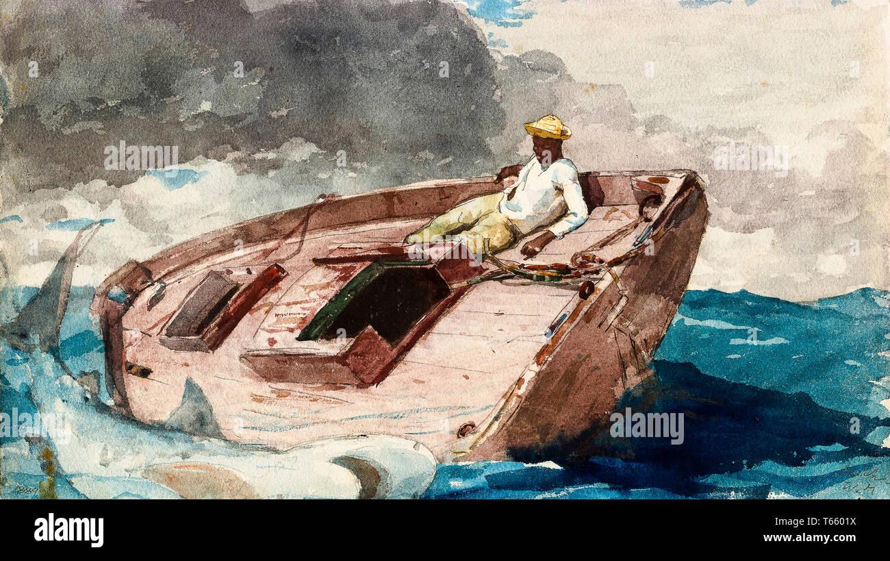 Winslow Homer, The Gulf Stream, painting, 1899 - Stock Image