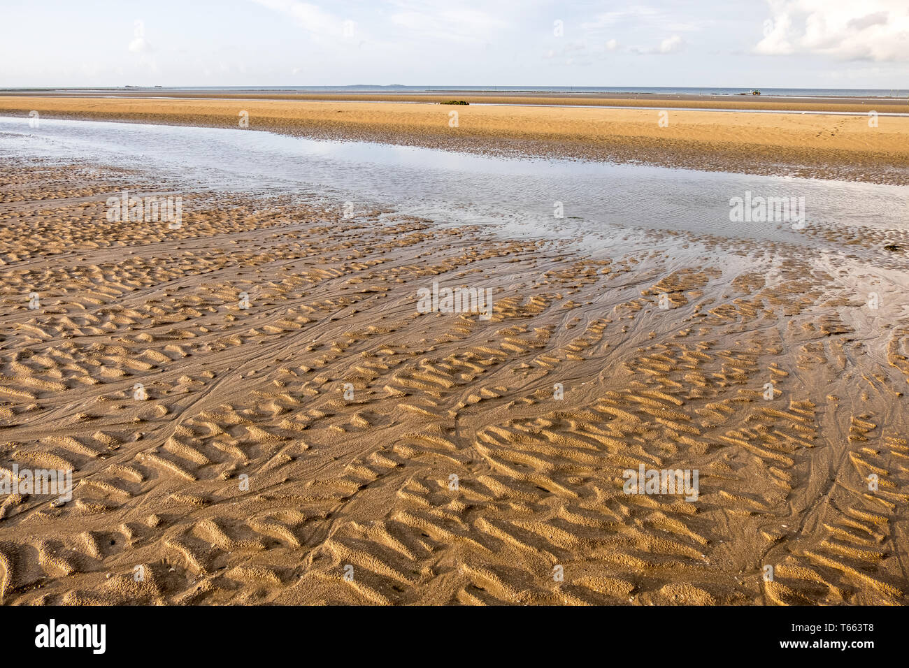 Peaceful landscape on the famous Utah Beach in Normandy, France Stock Photo