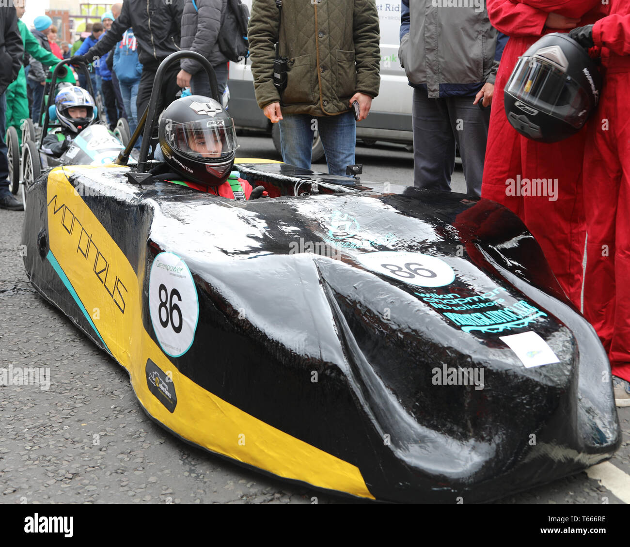 Greenpower Electric Car Racing come to Kingston upon Hull streets