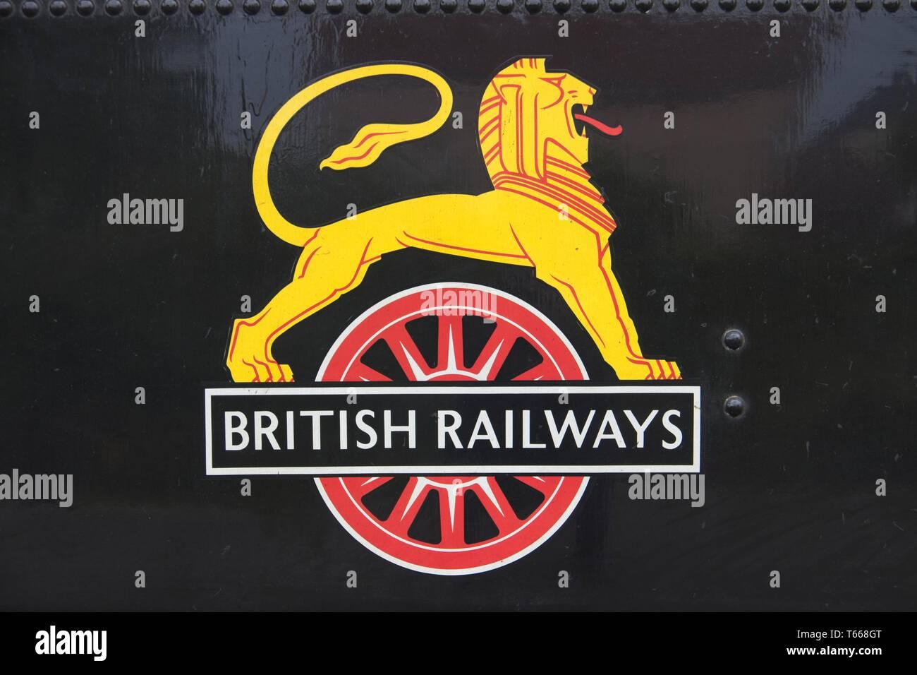 British Railways Logo - Stock Image