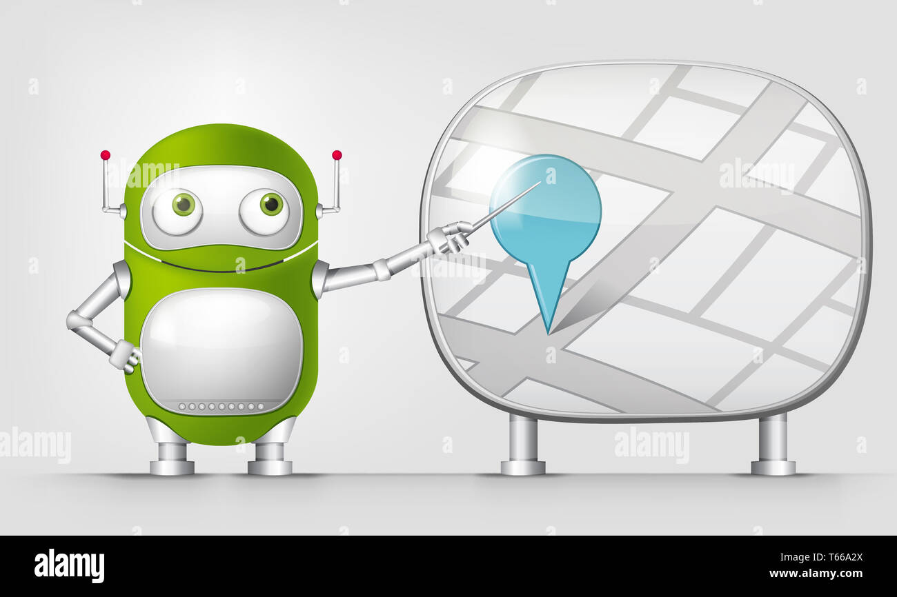 Green Robot - Stock Image