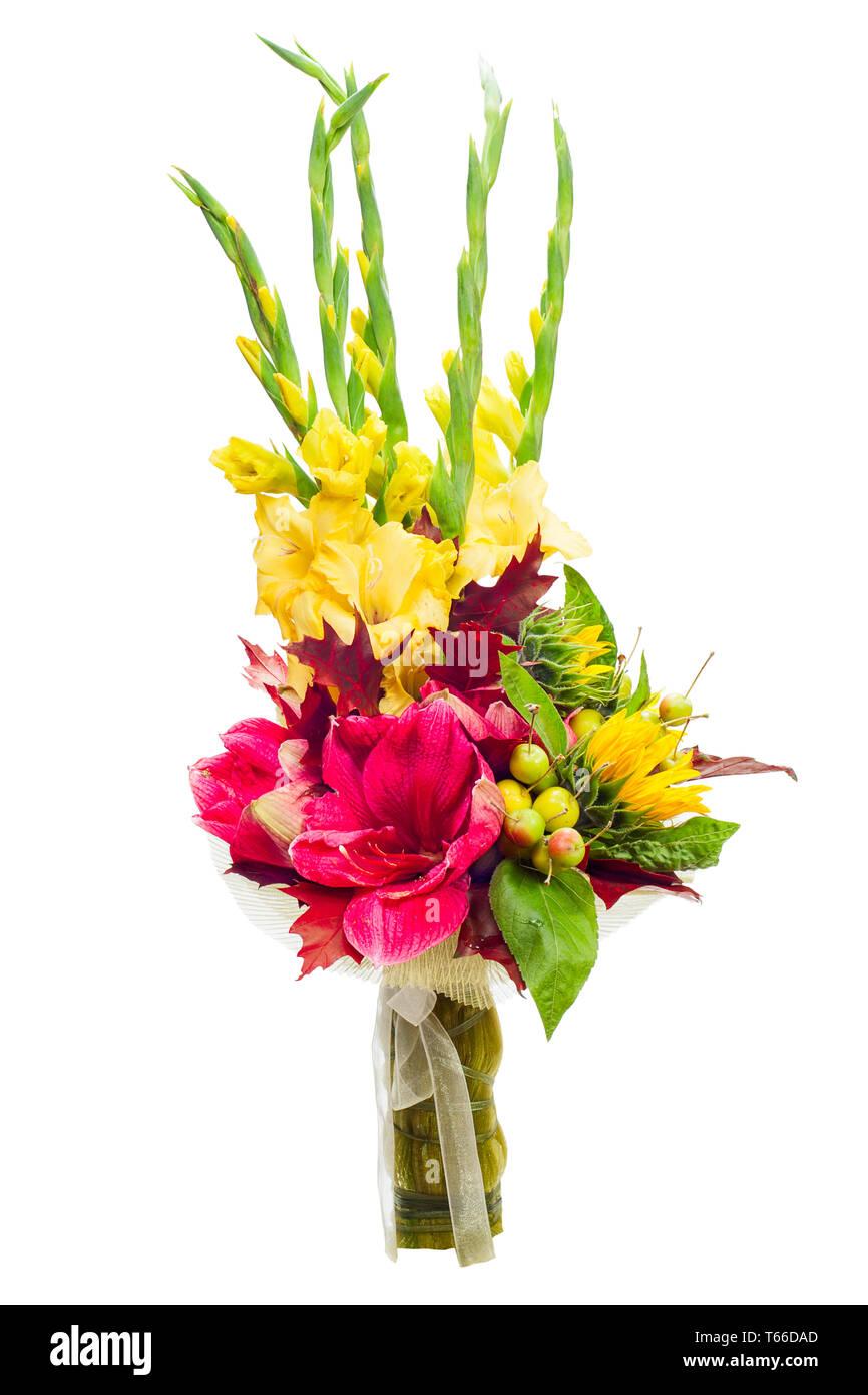colorful flower bouquet arrangement centerpiece fr - Stock Image