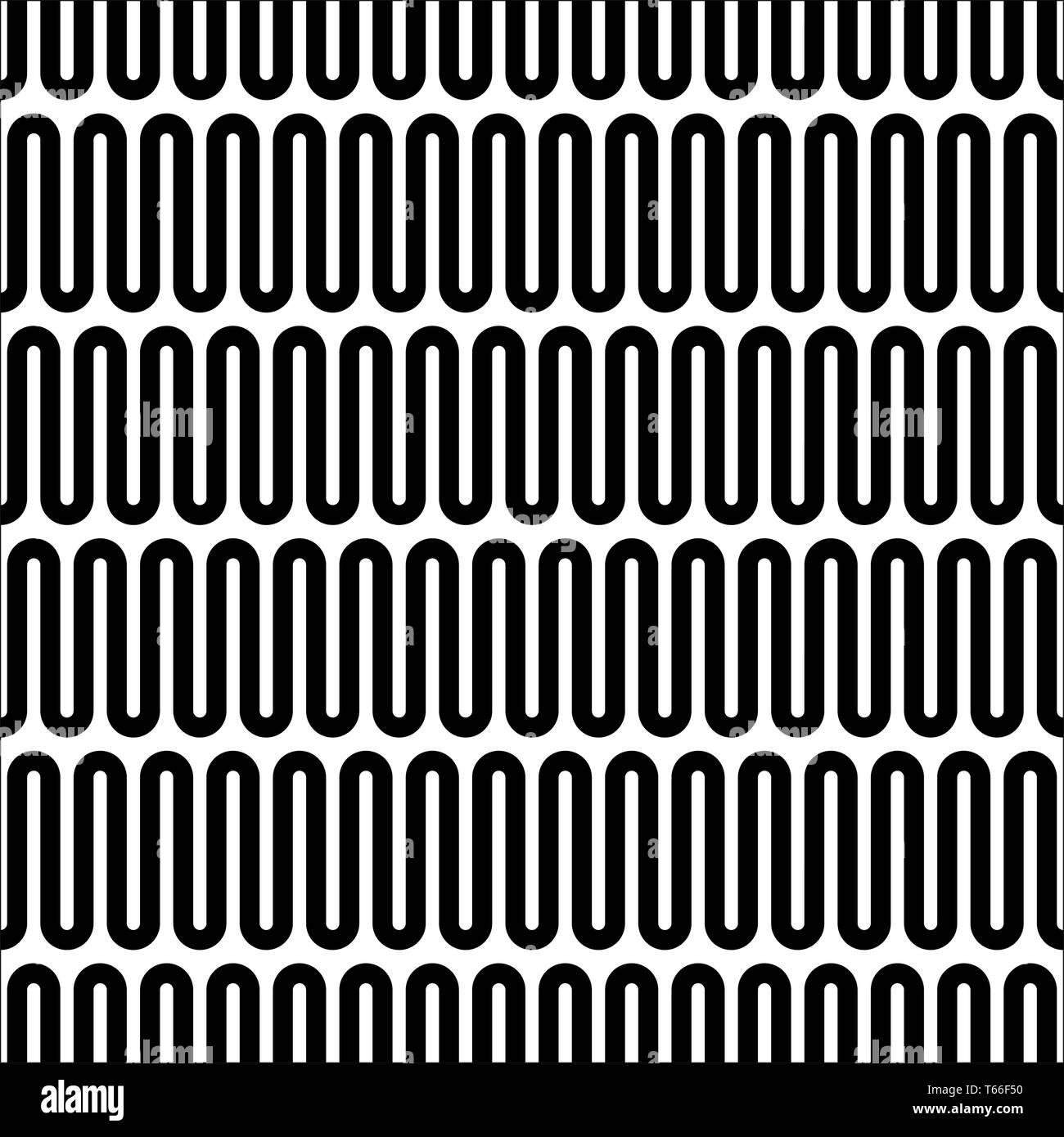 Horizontal wavy lines seamless pattern  Abstract vector