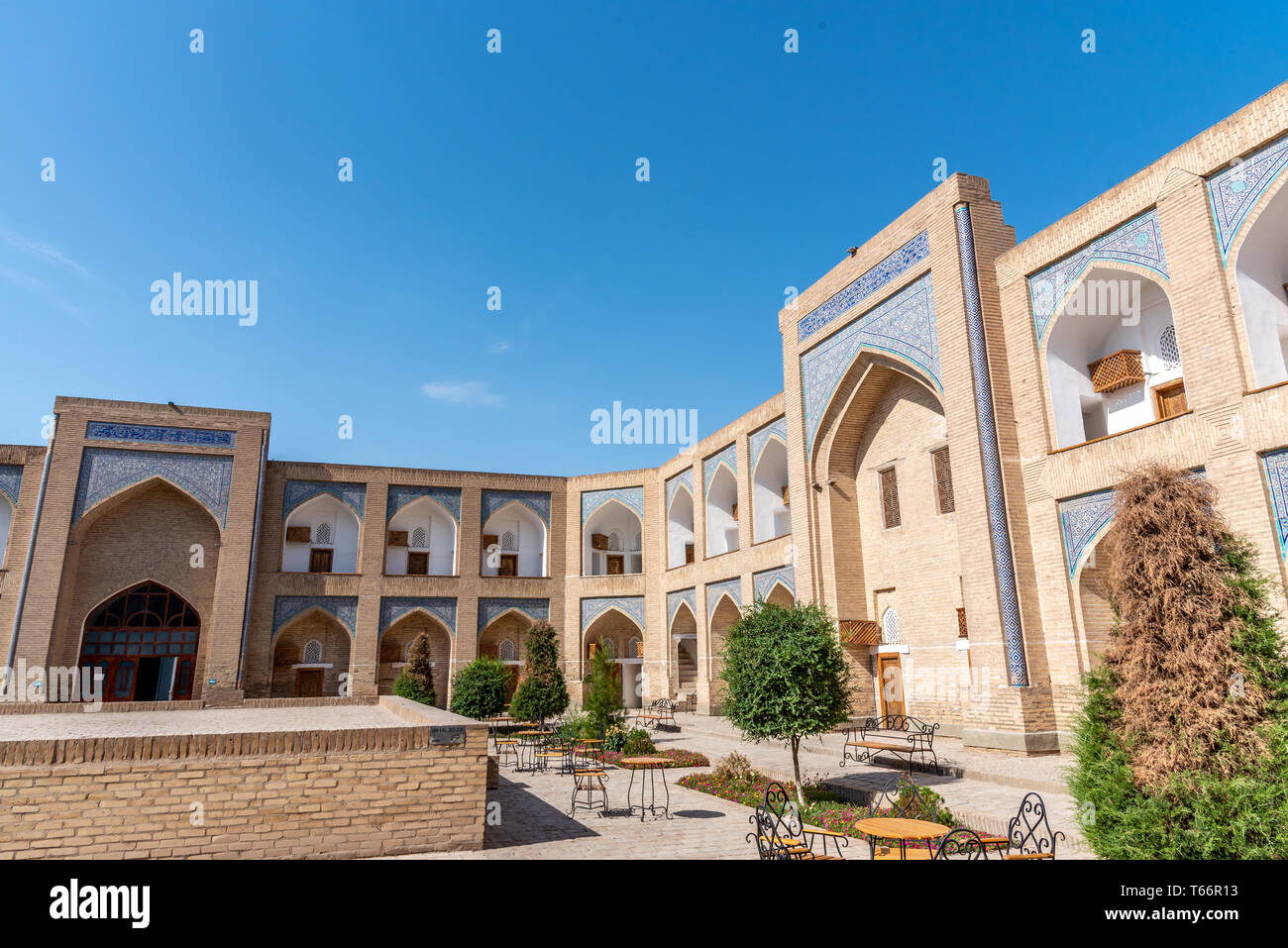 Usbek Madrasa Stock Photo