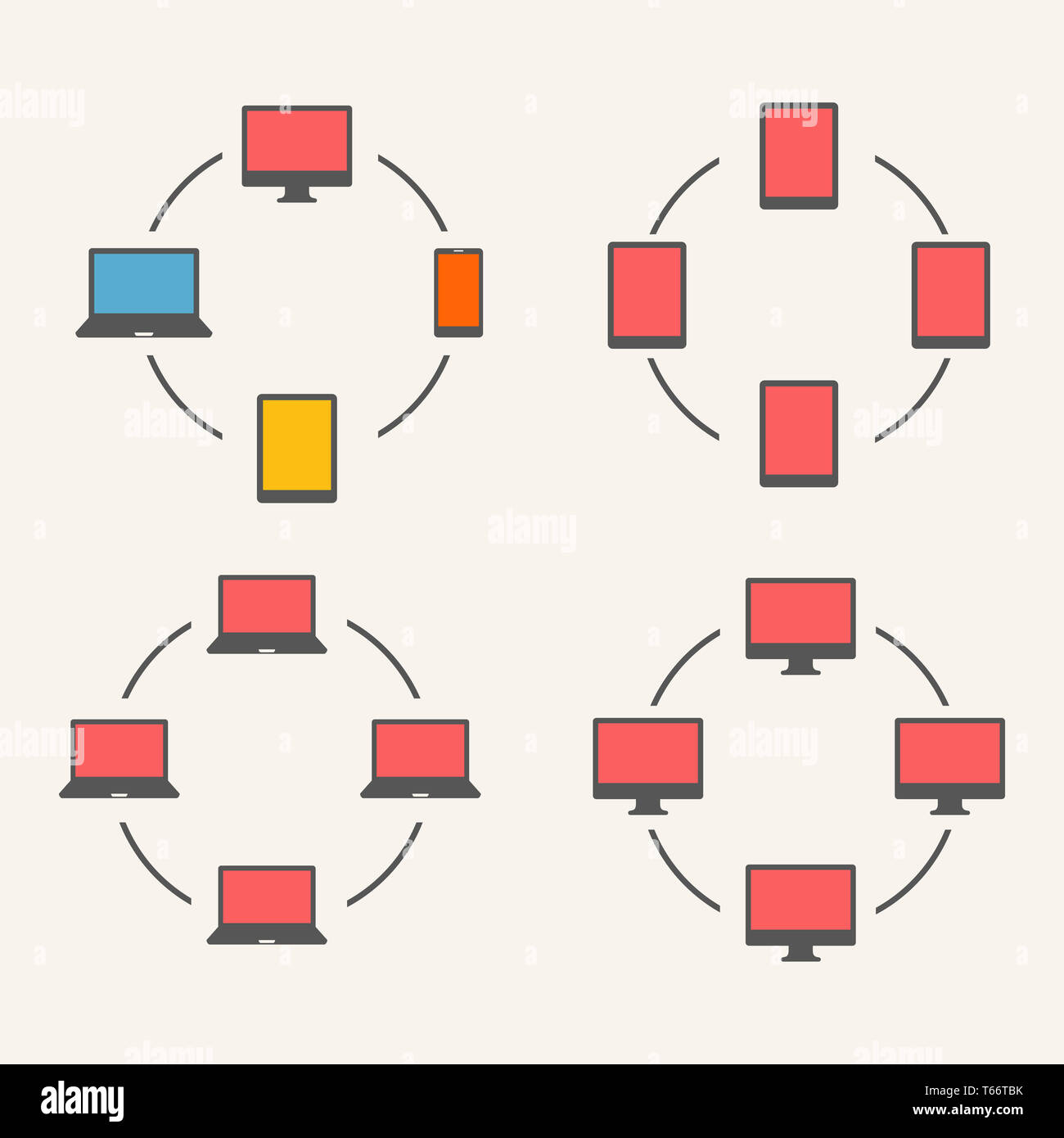 Gadgets. Icon set - Stock Image