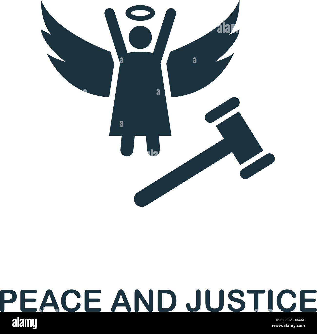 Peace And Justice icon. Creative element design from community icons collection. Pixel perfect Peace And Justice icon for web design, apps, software - Stock Vector