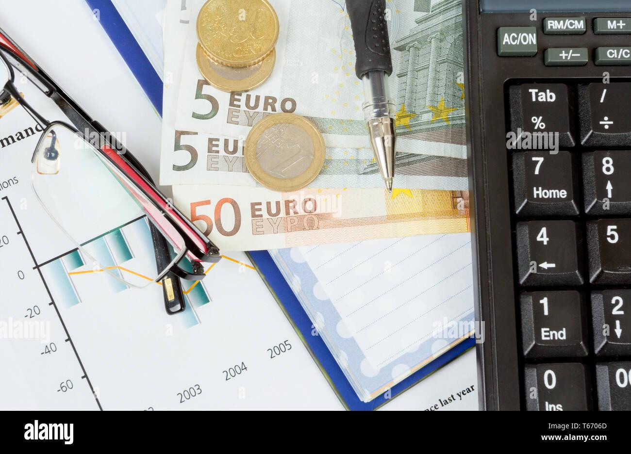 businessman workplace - Stock Image