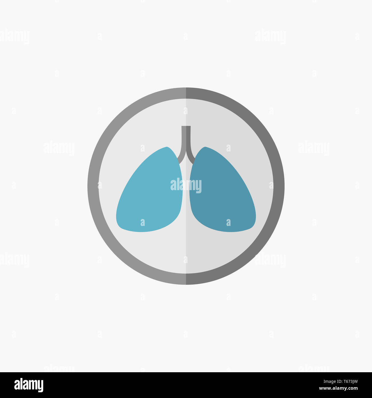 Lungs Flat Icon - Stock Image