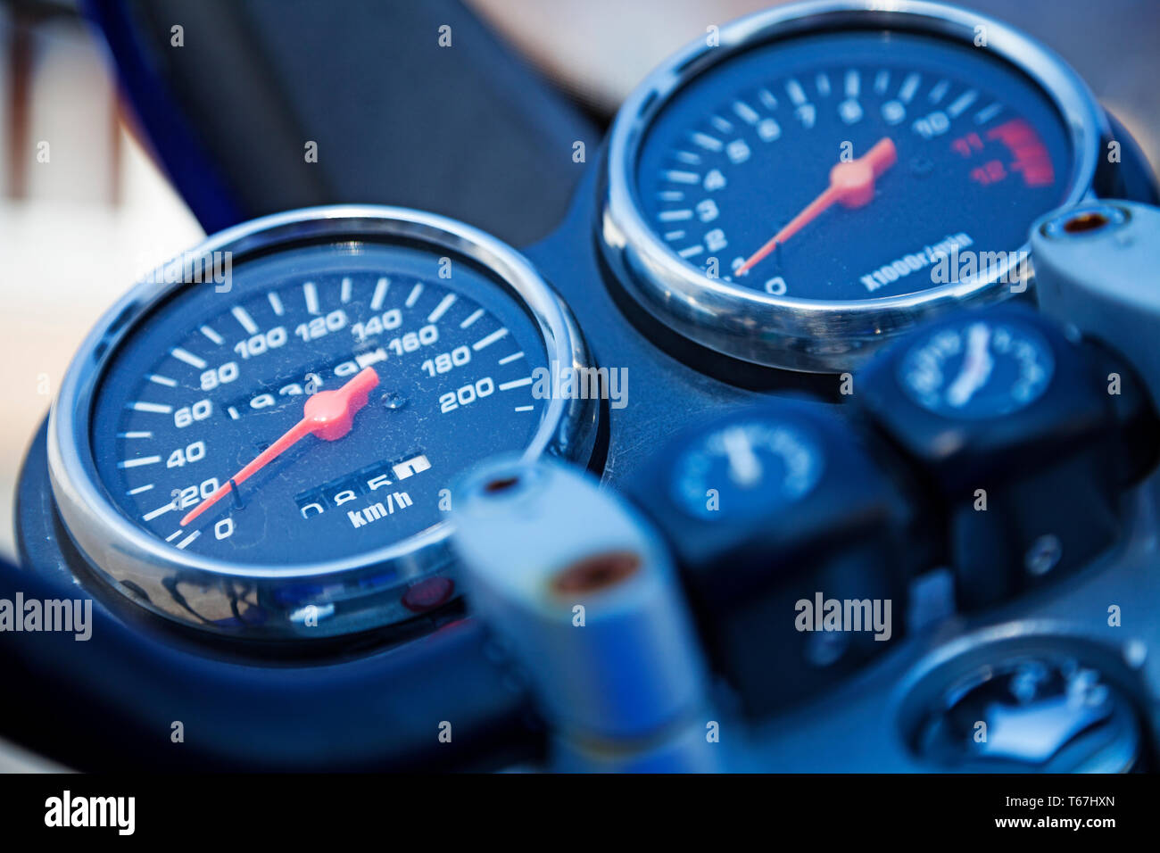 speed master on motorcycle Stock Photo: 244800829 - Alamy