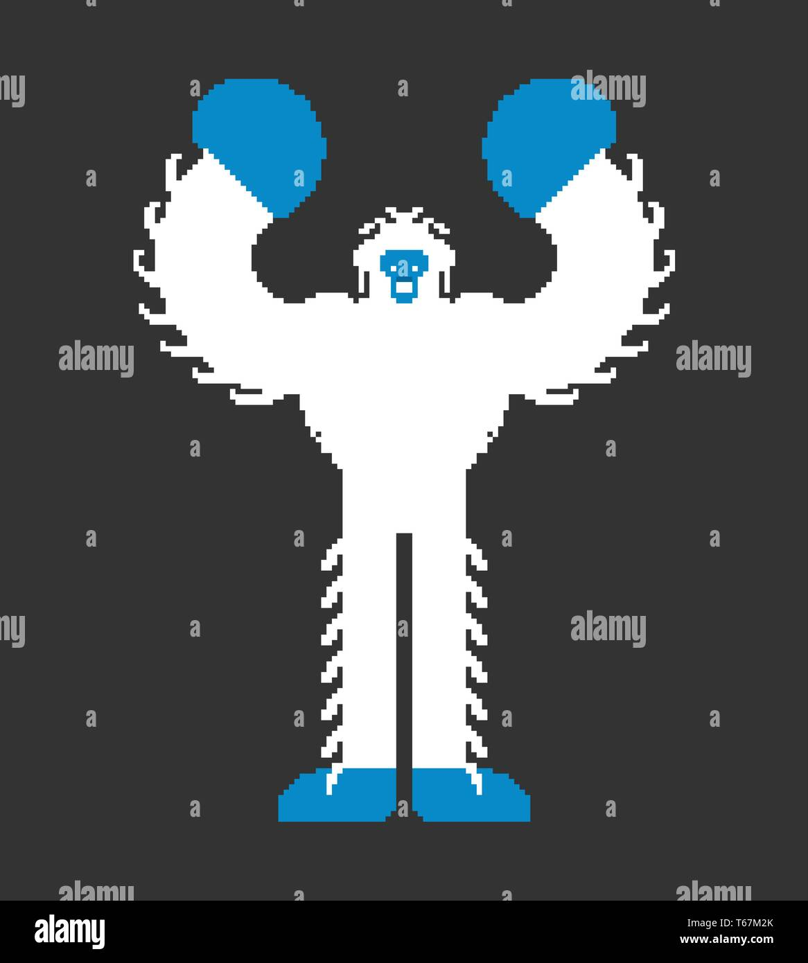 Yeti Pixel Art Bigfoot Pixelated Abominable Snowman Old