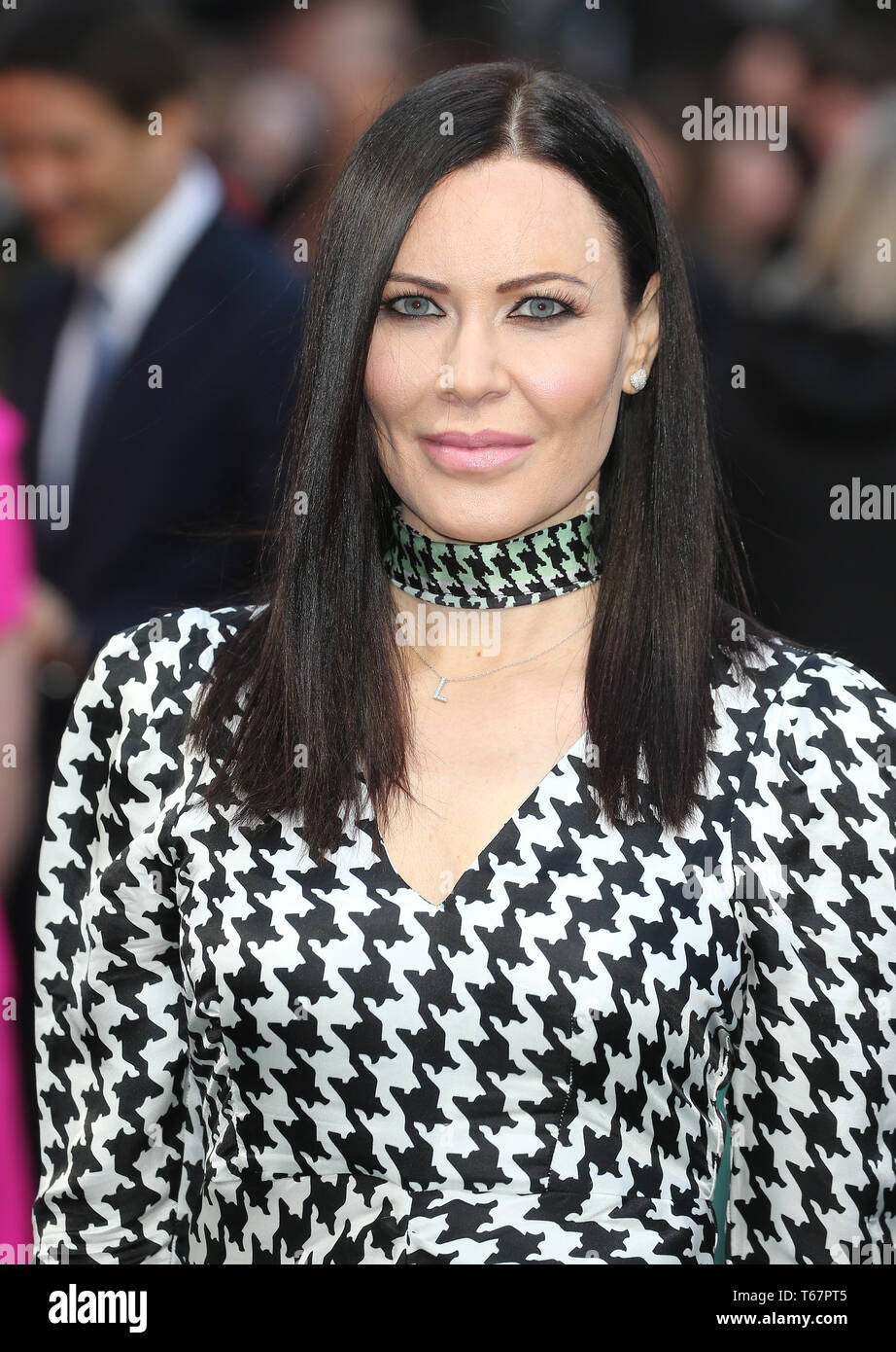 Linzi Stoppard attending the UK premiere of Tolkien held at Curzon Mayfair, London . PRESS ASSOCIATION. Picture date: Monday April 29, 2019. Photo credit should read: Isabel Infantes/PA Wire - Stock Image