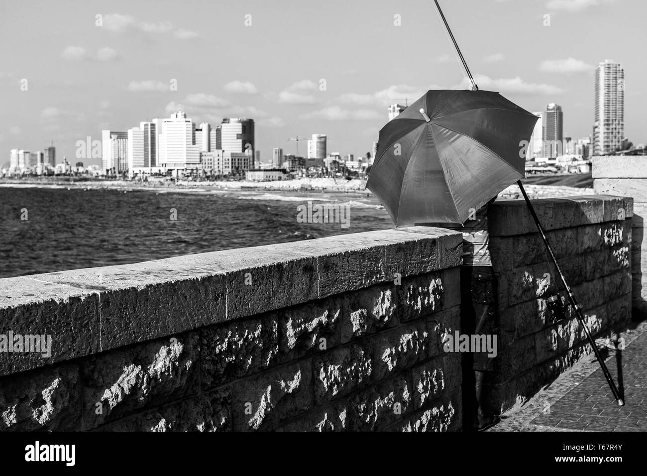 View of the Tel Aviv Promenade. Tel Aviv, Israel - Stock Image
