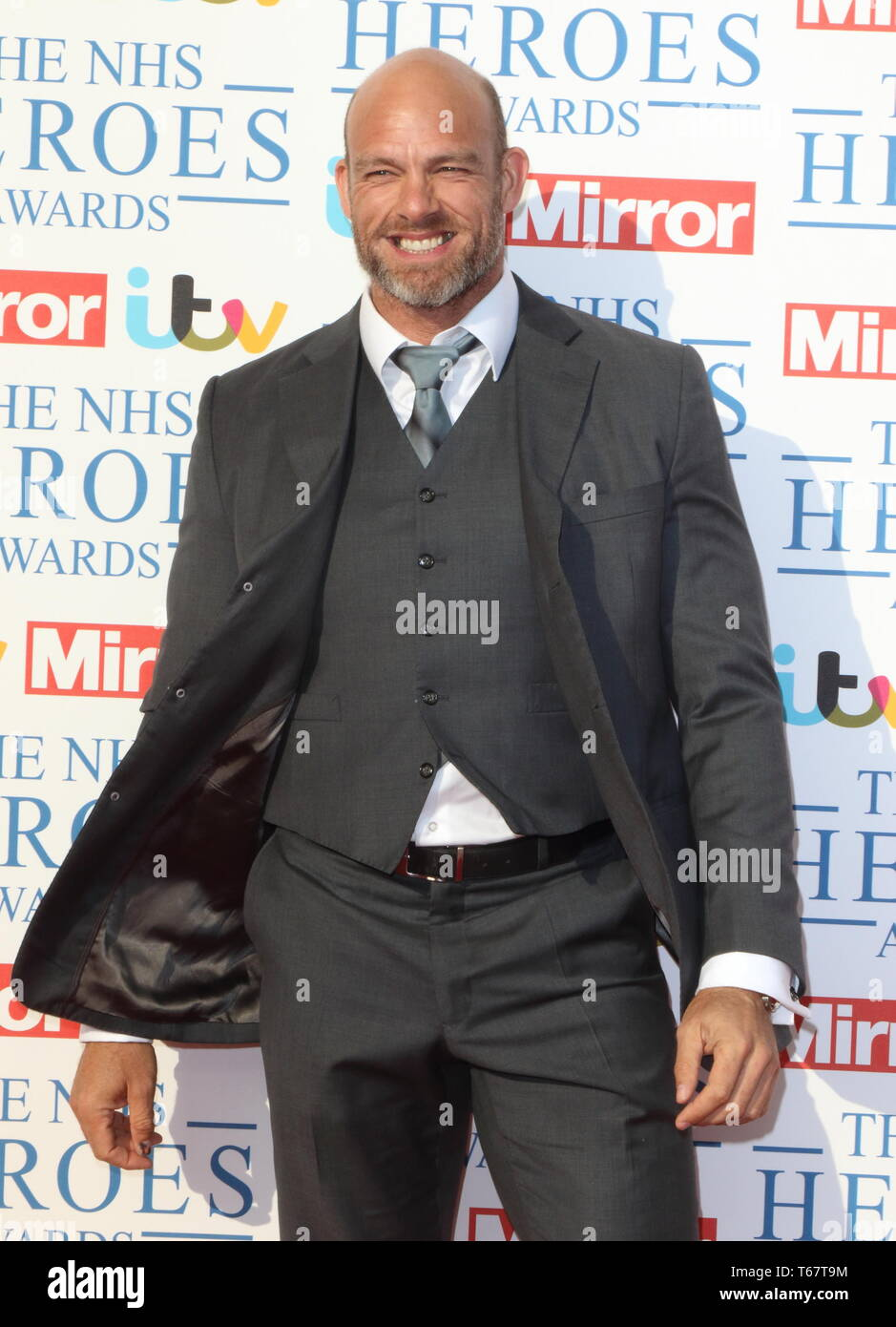 London, UK. James Haskell at NHS Heroes Awards at the London Hilton Park Lane, London on Monday 14 May 2018. Ref: LMK73-J2025-150518 Keith Mayhew/Landmark Media WWW.LMKMEDIA.COM - Stock Image
