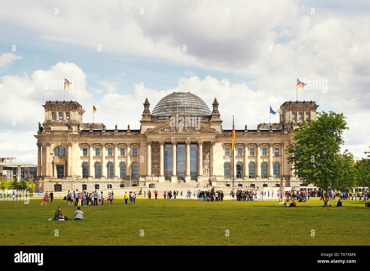 The Reichstag building in Berlin, Germany - Stock Image