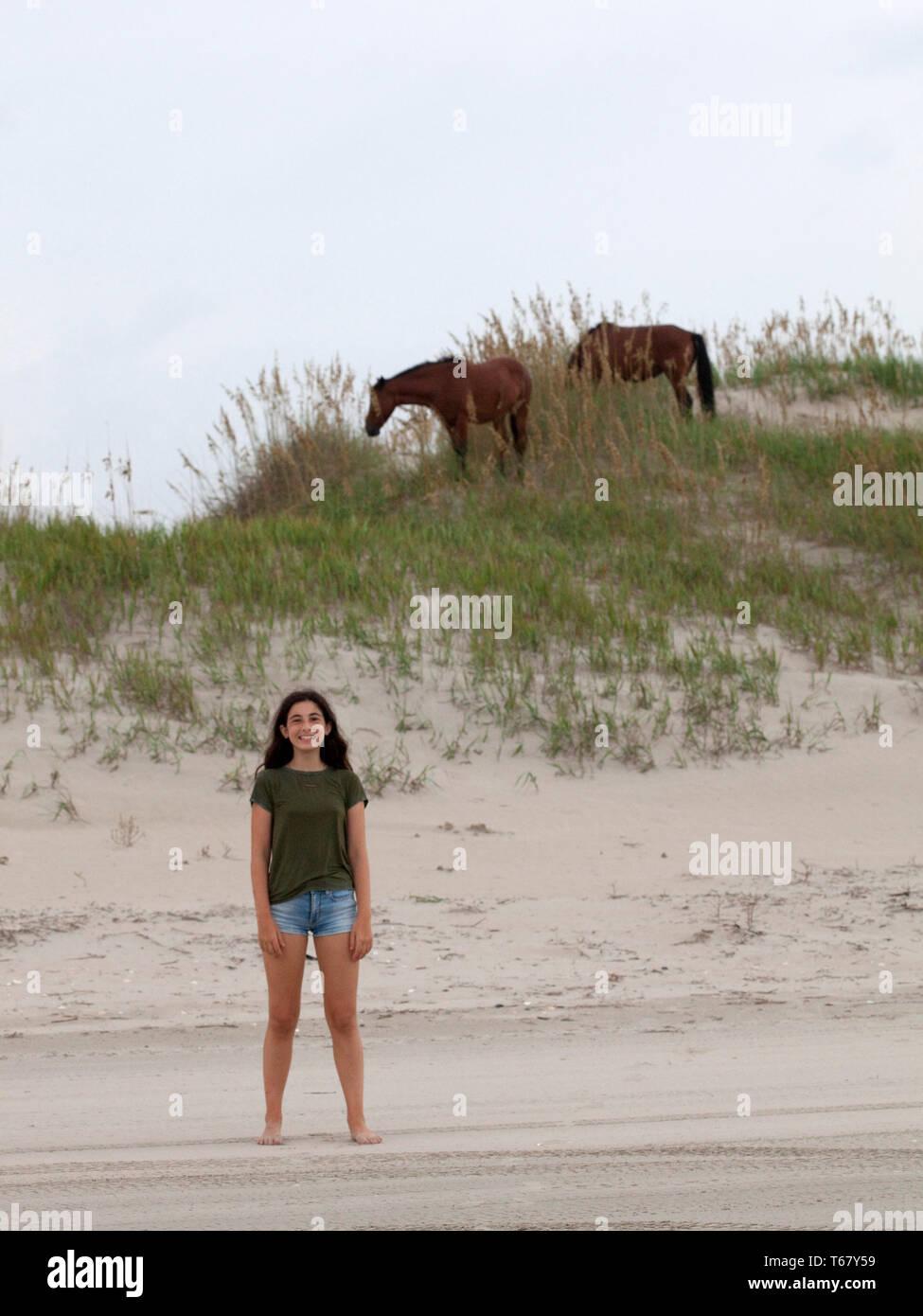 Summer, outer banks, north carolina, virginia Stock Photo