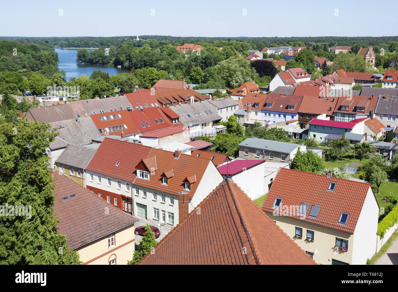 Village Templin, Uckermark, a Region in northeast Germany, Brandenburg - Stock Image
