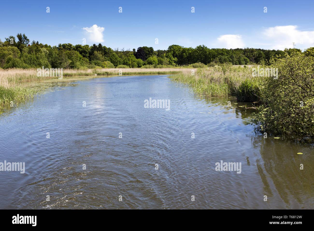 Beautiful Landscape in Uckermark, a Region in northeast Germany, Brandenburg - Stock Image