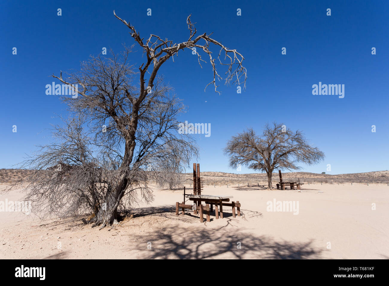 stopover rest place in Kgalagadi transfontier park - Stock Image