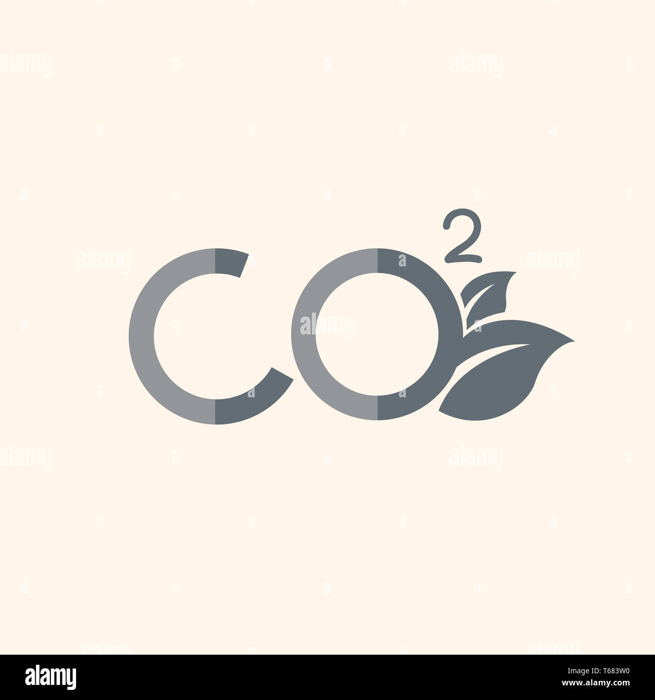 Carbon Dioxide Flat Icon - Stock Image