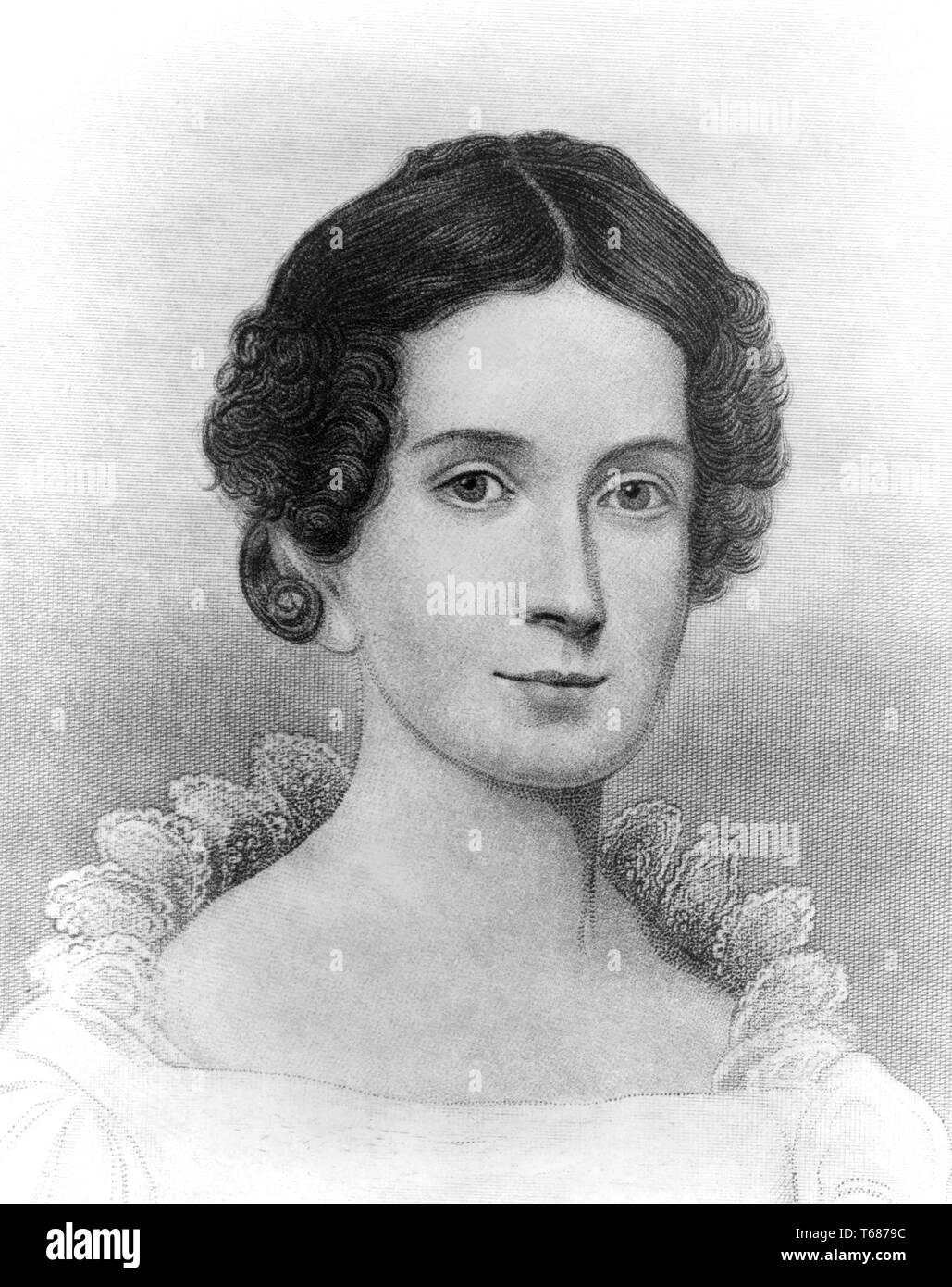 Letitia Christian Tyler, Wife of U.S. President John Tyler, Head and Shoulders Portrait, 1830's - Stock Image