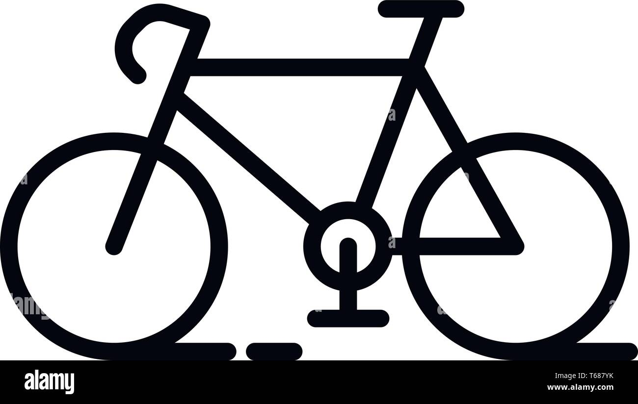 This vector image shows a bicycle icon in glyph style. It is isolated on a white background. - Stock Vector