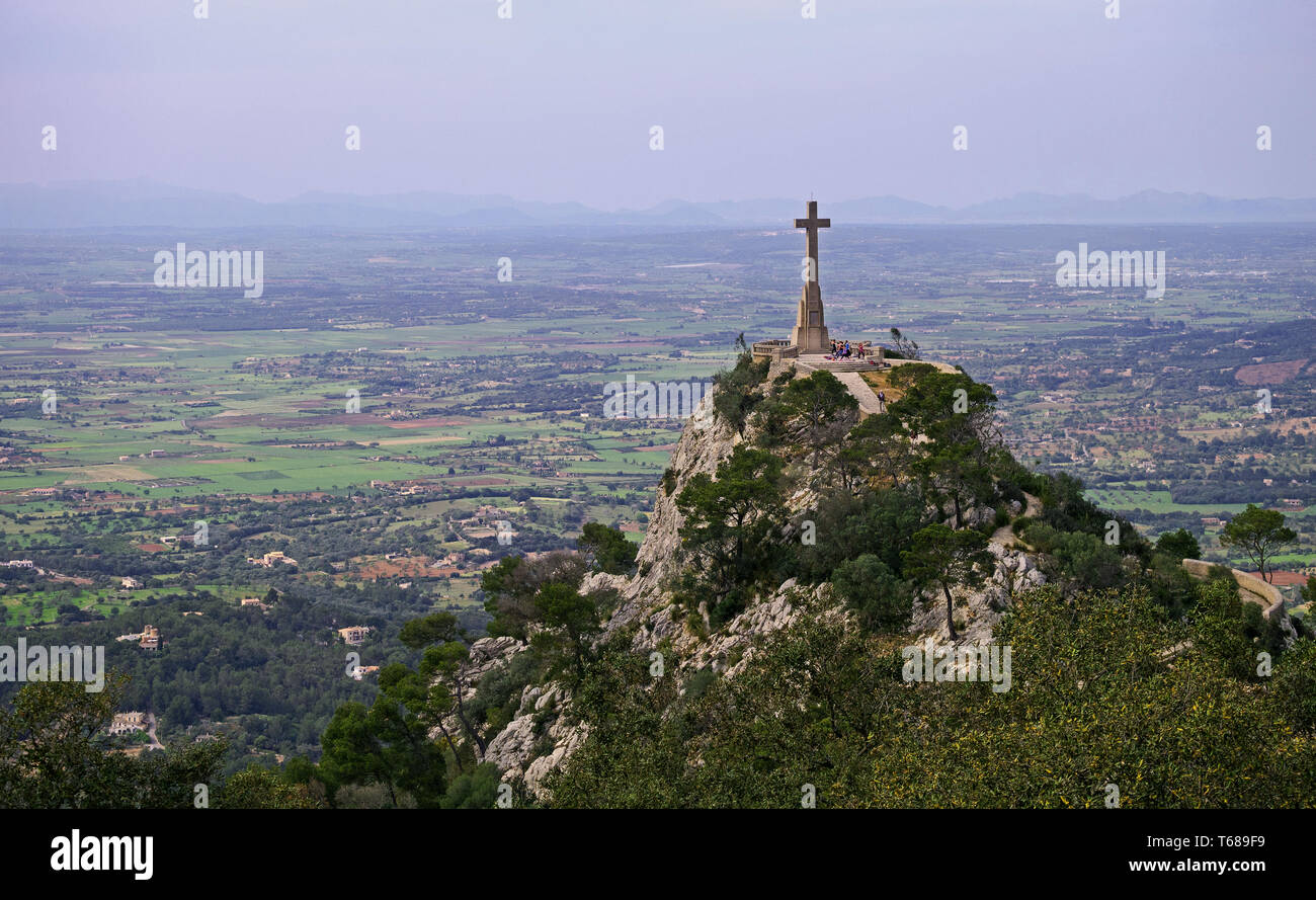 View from the Puig de Sant Salvador - Stock Image