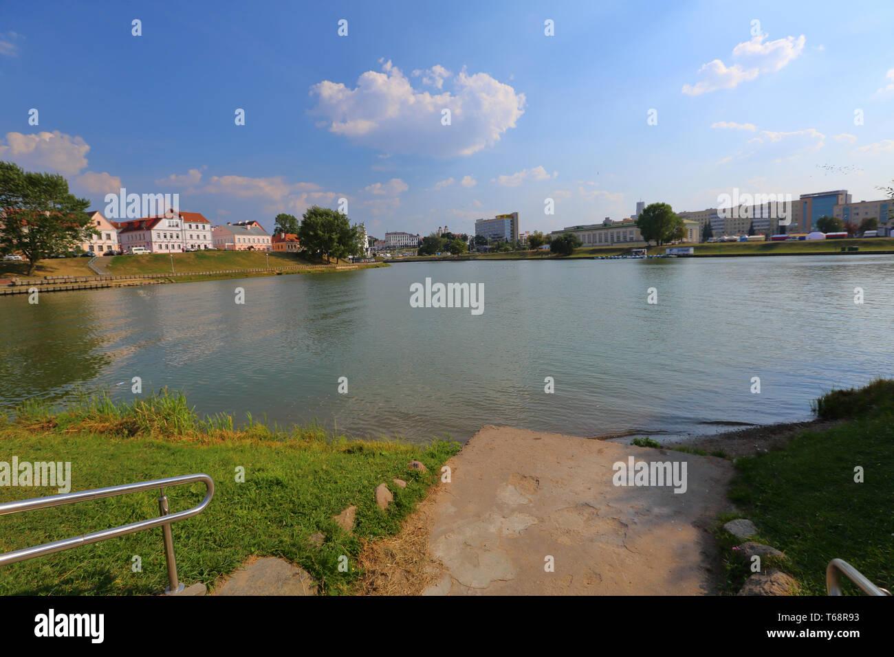 The city of Minsk, Belarus - Stock Image