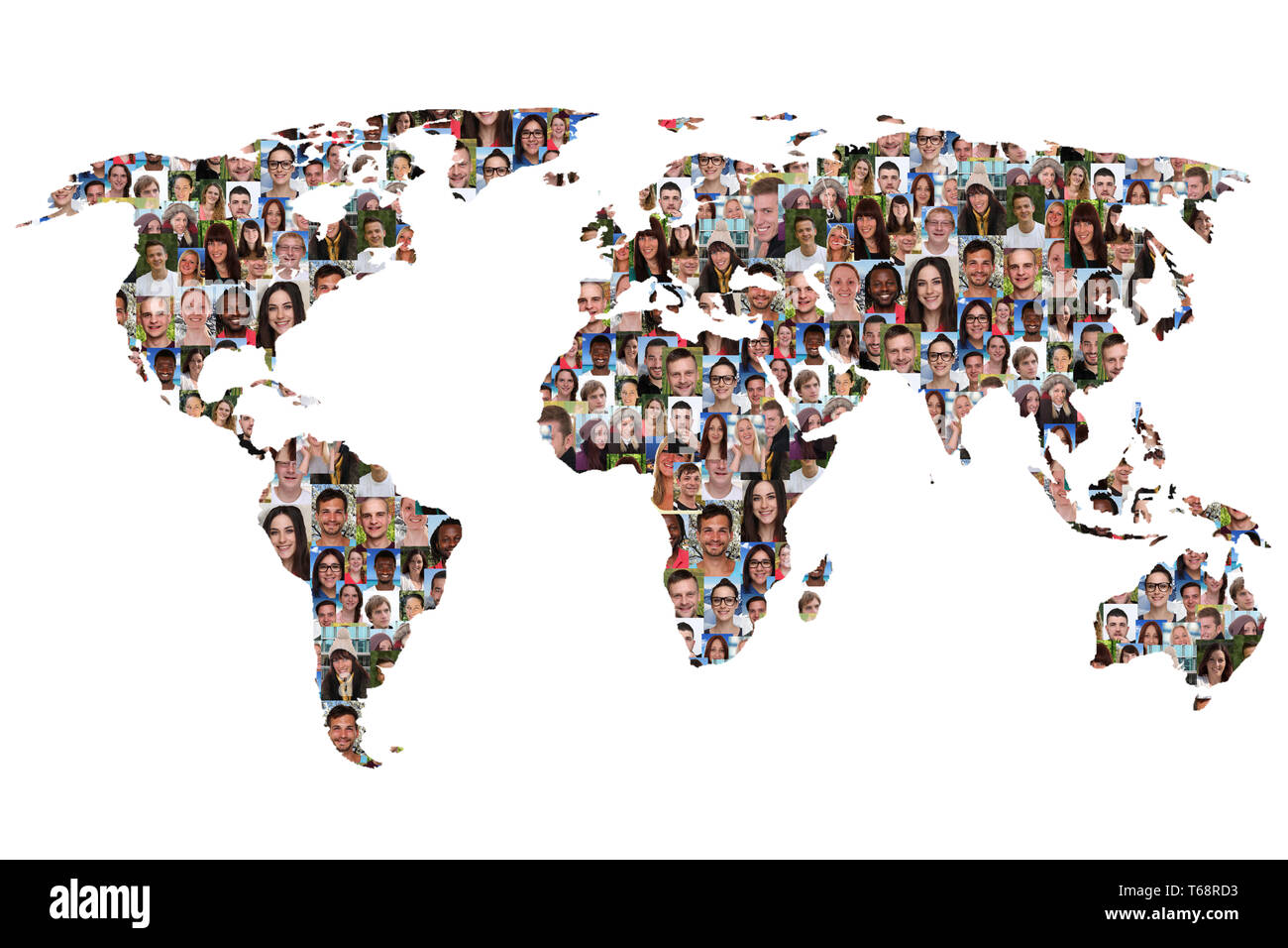 Multicultural Teenager Group Symbol Photo - Stock Image
