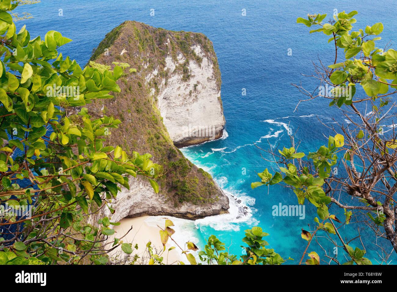 dream Bali Manta Point Diving place at Nusa Penida island Stock Photo