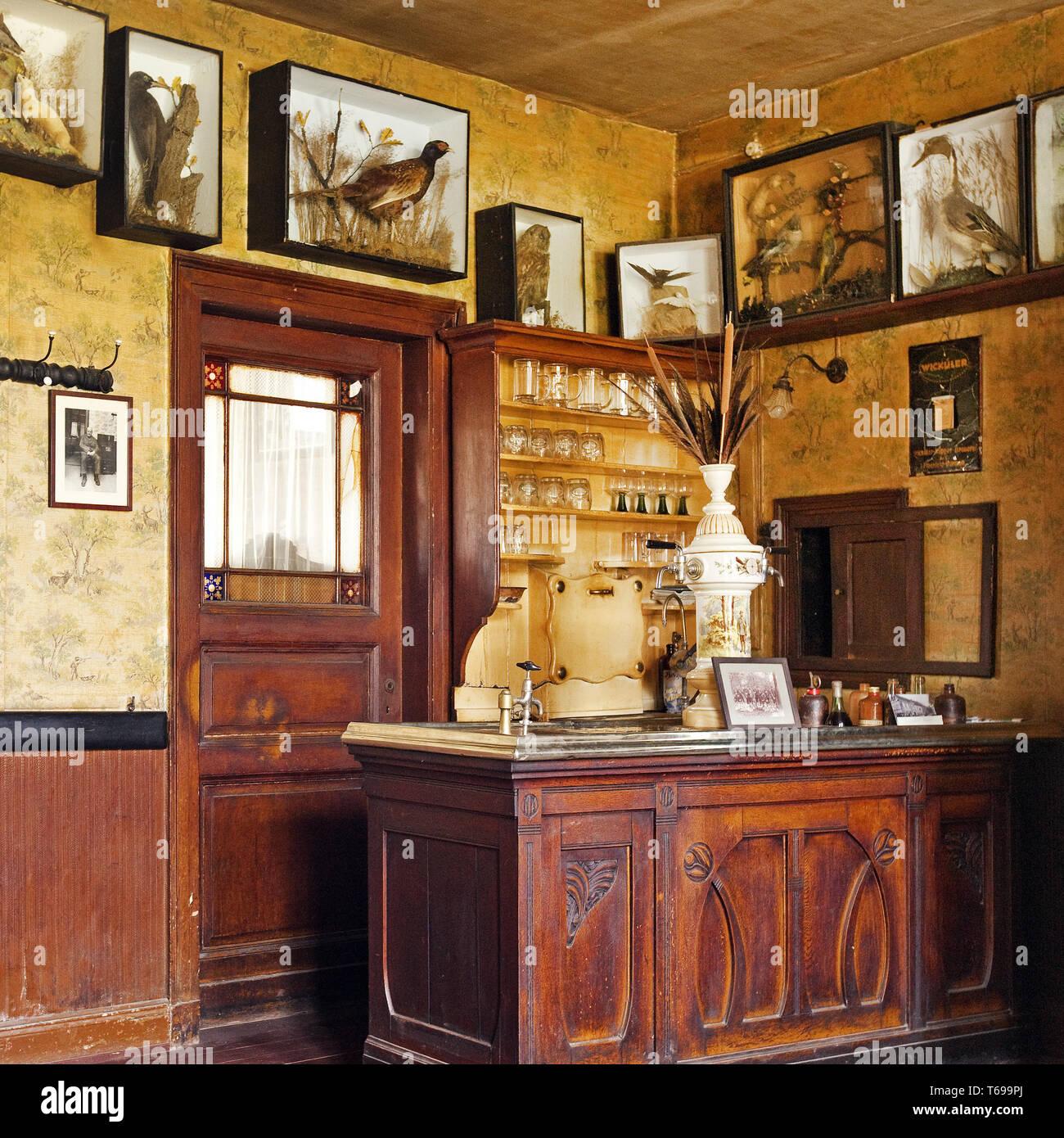 historic restaurant at open-air museum, Lindlar, Bergisches Land, North Rhine-Westphalia, Germany - Stock Image