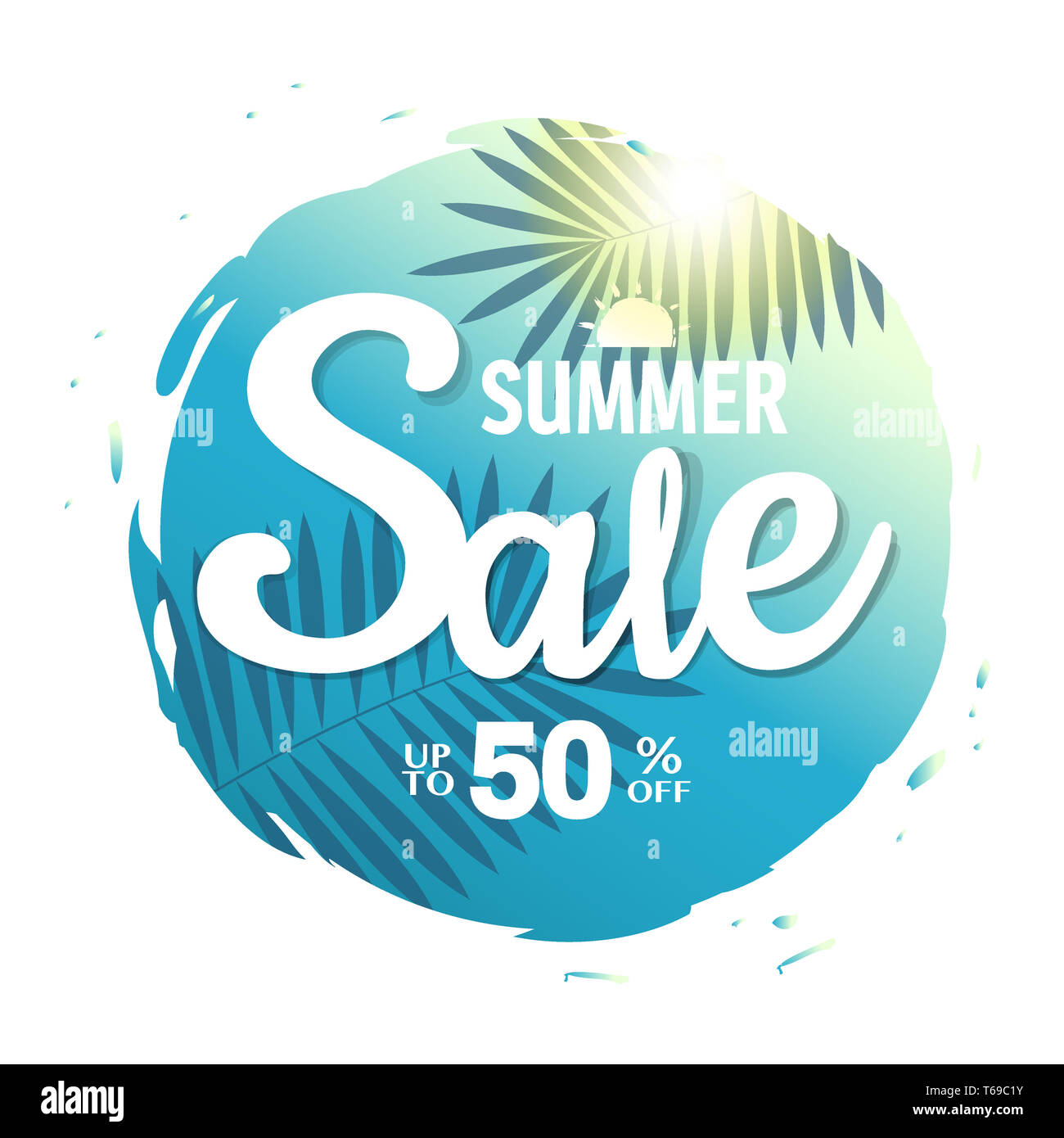 Summer Sale Poster - Stock Image