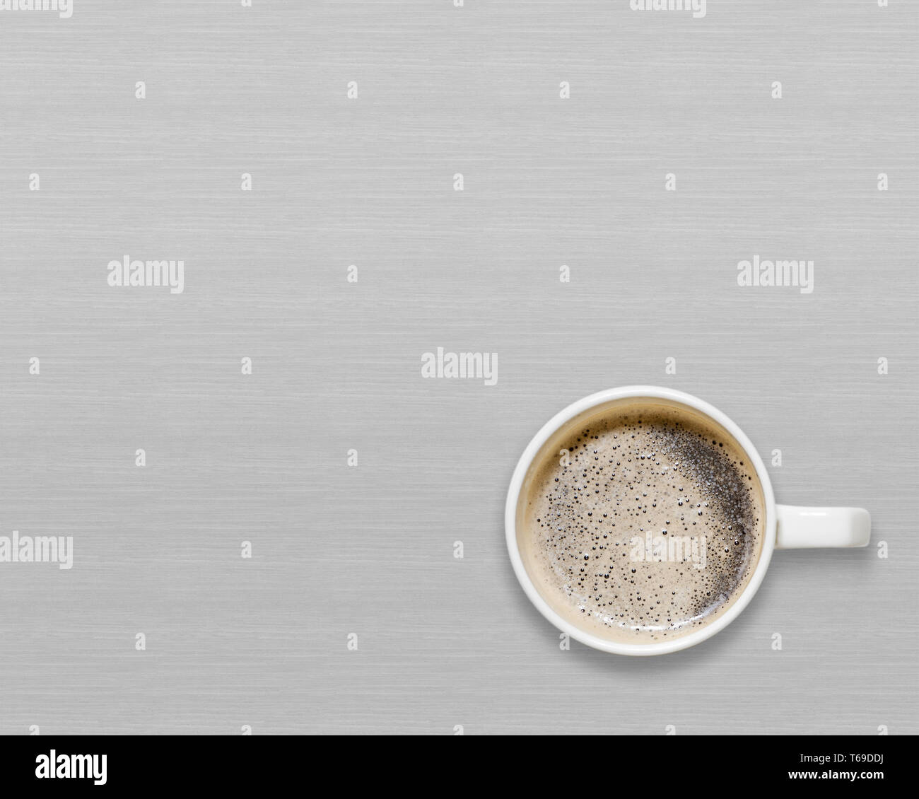 9e62b6b5614 Coffee Cup On Grey Wood Table Stock Photos & Coffee Cup On Grey Wood ...