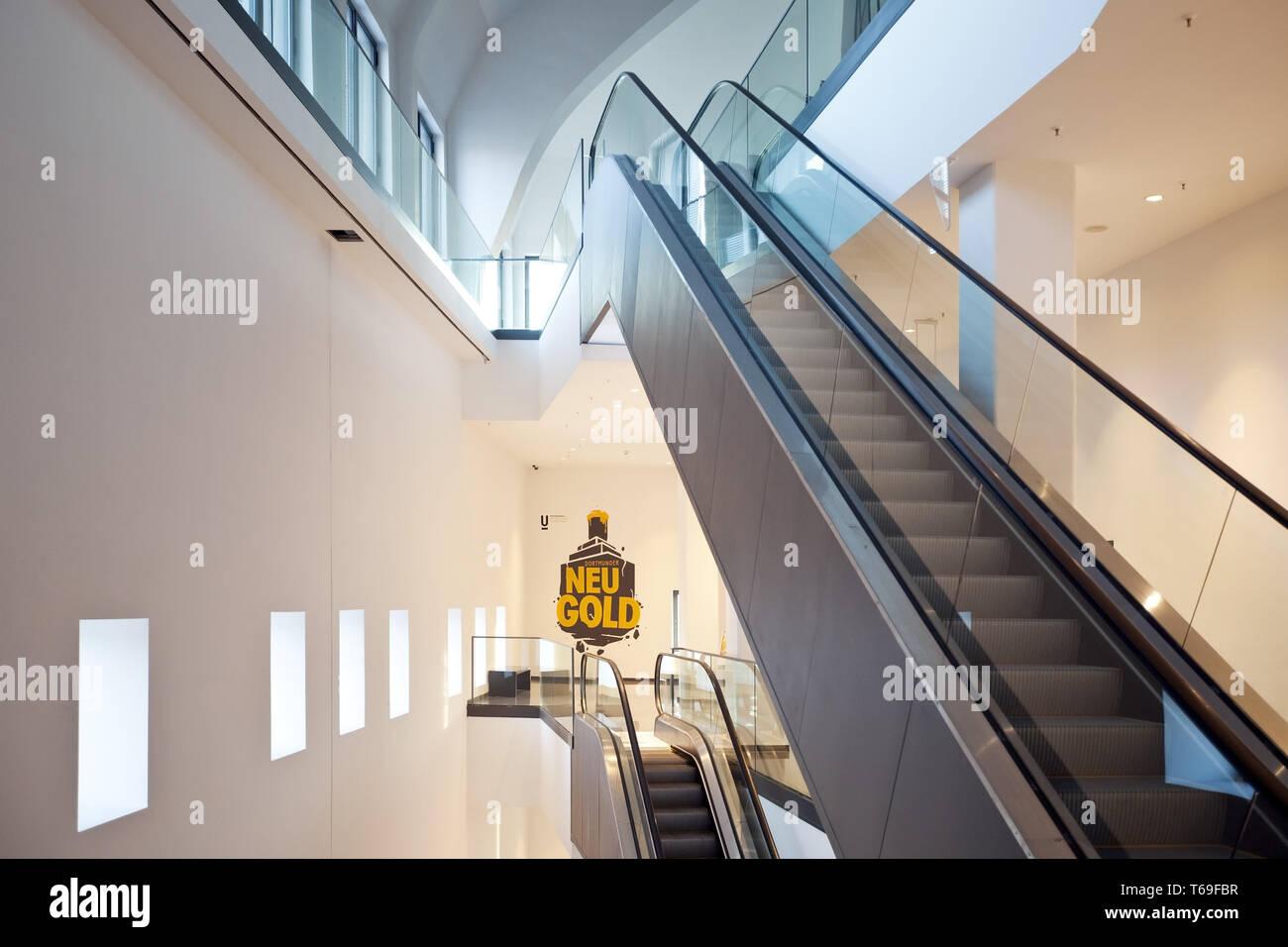 Staircase, Dortmunder U, Centre for Art and Creativity, Dortmund, Germany - Stock Image