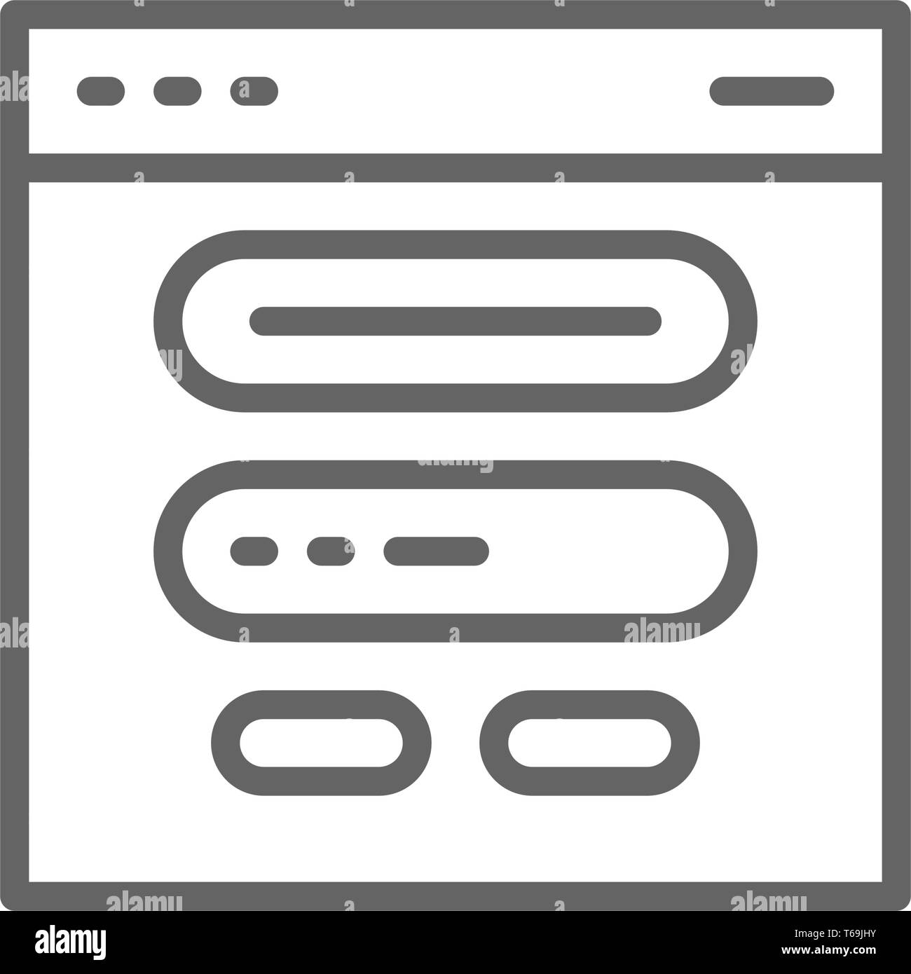 Browser window, website and site line icon. - Stock Image