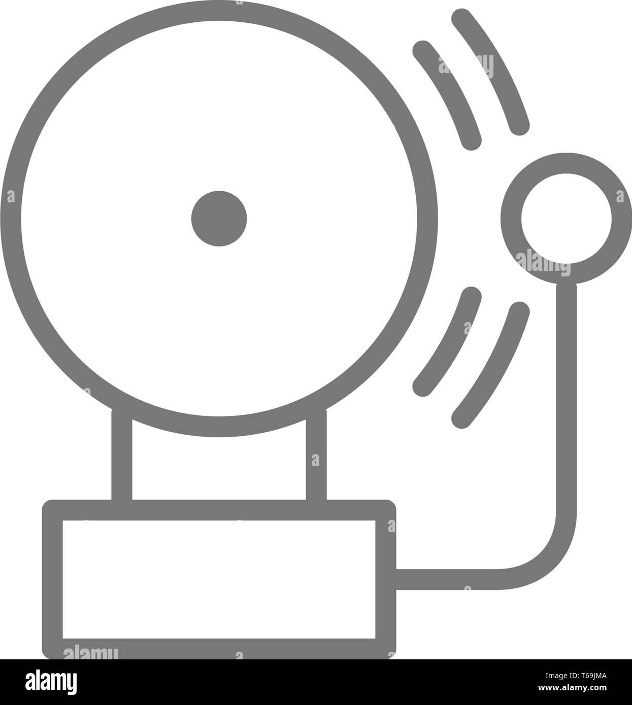 Alarm bell line icon. Stock Vector