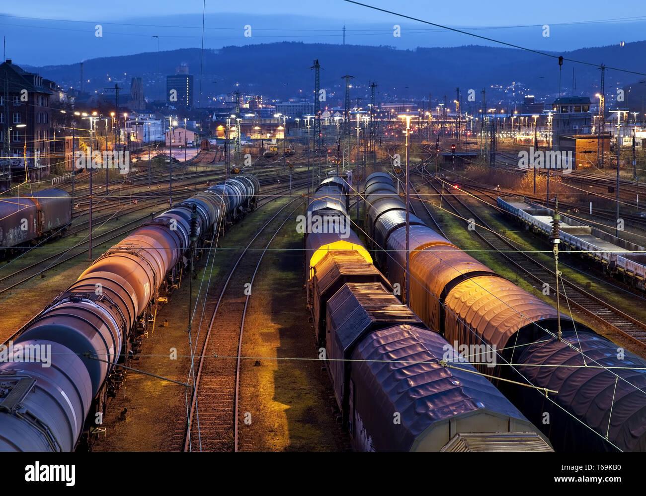 switch yard Hagen-Vorhalle, Hagen, Ruhr Area, North Rhine-Westphalia, Germany, Europe - Stock Image