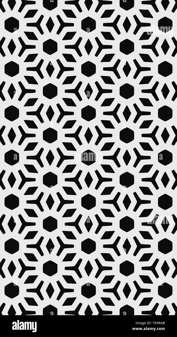 Ornate geometric pattern and two-tone abstract background - Stock Image