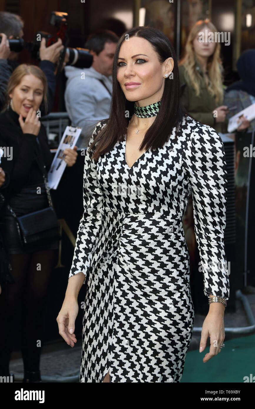 Linzi Stoppard on the red carpet at the Tolkien UK Premiere at the Curzon Mayfair - Stock Image