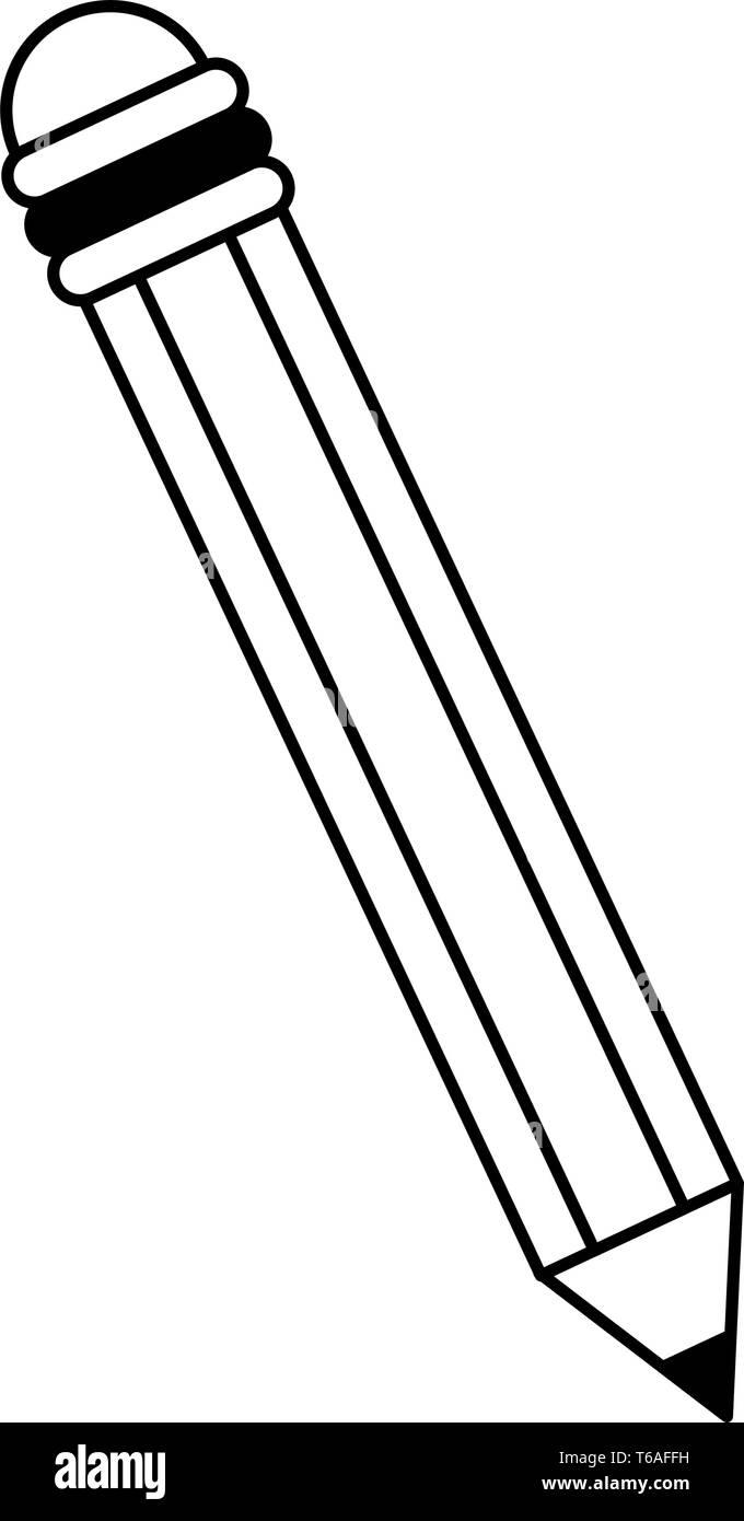 Pencil Icon Cartoon Stock Vector Image Art Alamy