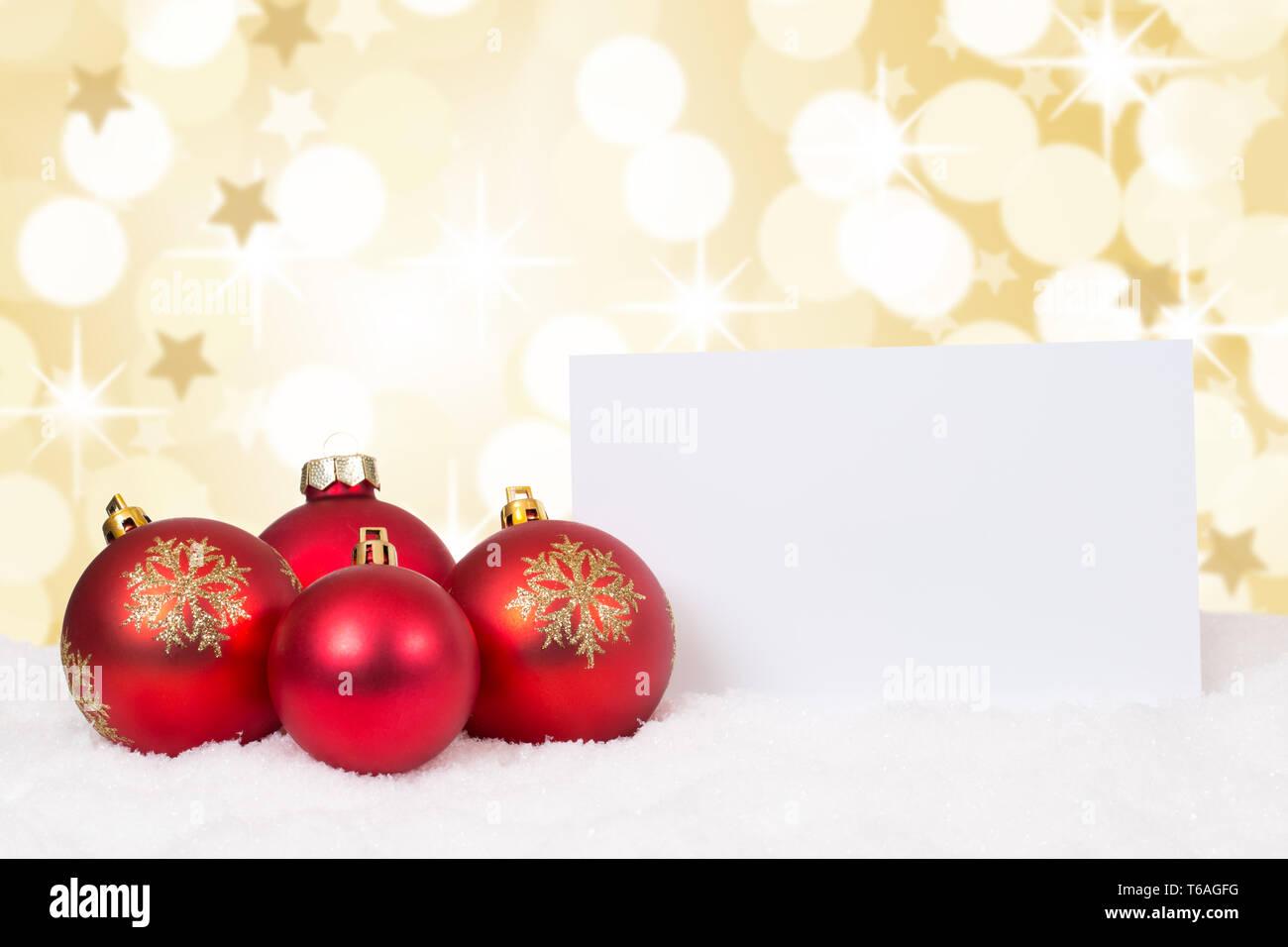 Wünsche Frohe Weihnachten.Rote Weihnachtskugeln Frohe Weihnachten Sterne Weihnachtskarte