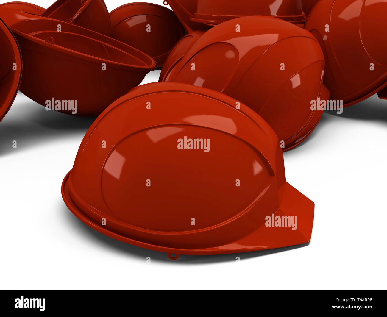 pile of helmets - Stock Image