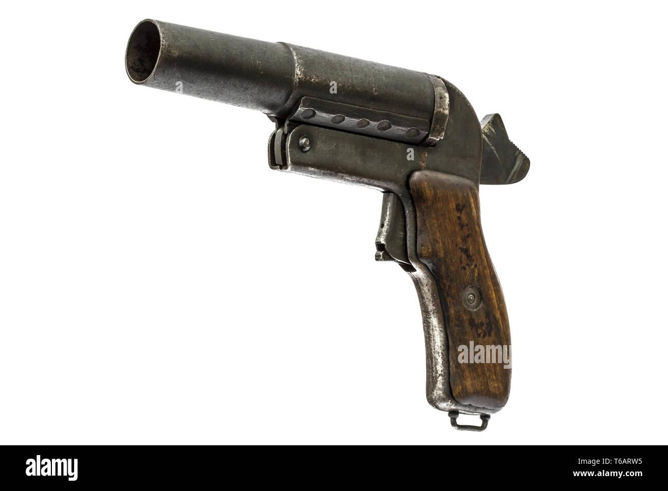 Military Flare Pistol Stock Photos & Military Flare Pistol