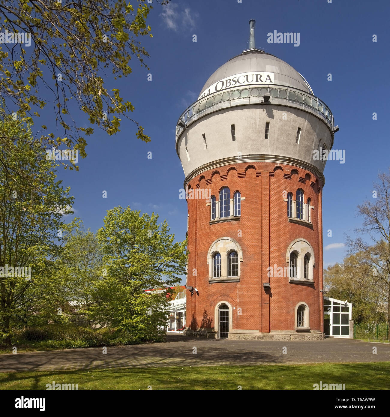 Camera Obscura, museum prehistory of film, Muelheim an der Ruhr, Ruhr Area, Germany - Stock Image