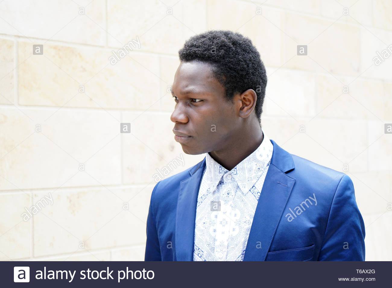 young man of african descent - Stock Image