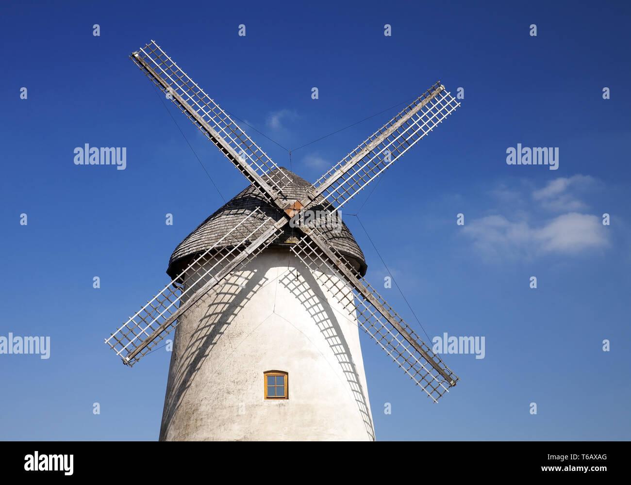wind mill, Enningerloh, Muensterland, North Rhine-Westphalia, Germany - Stock Image