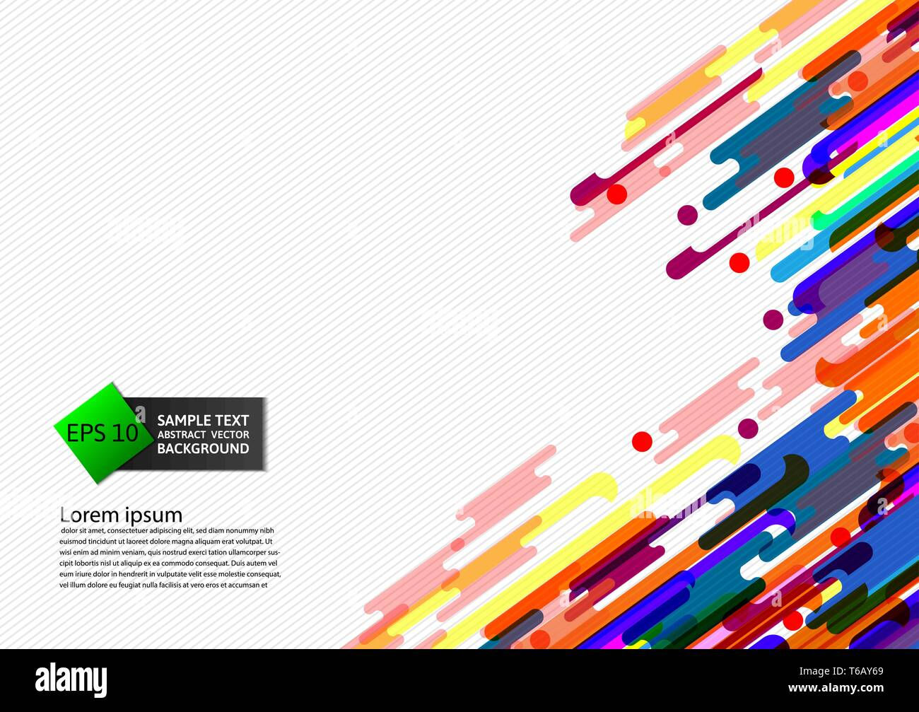 Multi Colored geometric abstract background vector Illustration - Stock Vector